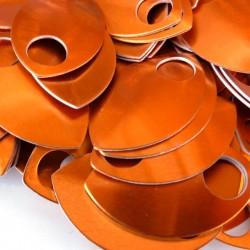 Šupiny velké oranžové - 10 Ks
