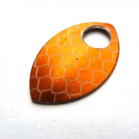 Dračí šupina malá oranžová - 1 Ks