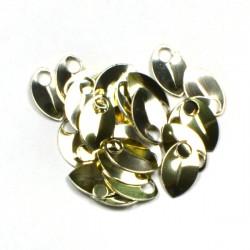 Šupiny extra malé zlaté - 10 Ks