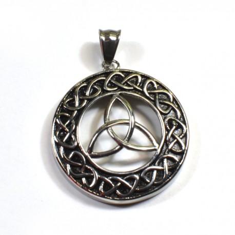 Triquetra v keltském kruhu