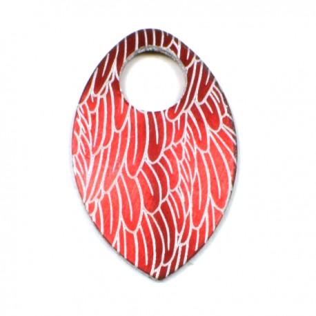 Šupina malá červená - Fénix - 1 Ks