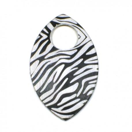 Šupina malá černá - zebra - 1 Ks