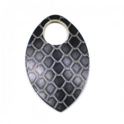 Dračí šupina malá černá - 1 Ks