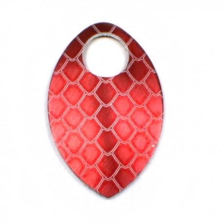 Šupina malá červená - drak - 1 Ks