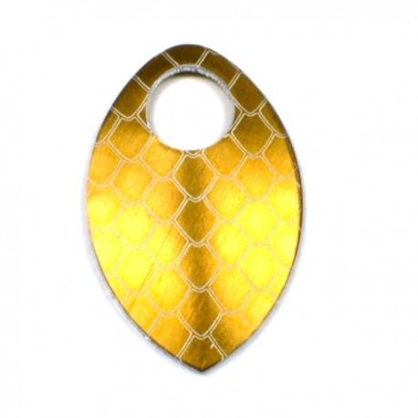 Šupina malá barvy bronzové - drak - 1 Ks